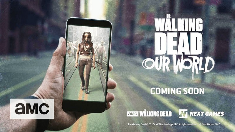 The walking dead also do AR mobile game, in the street