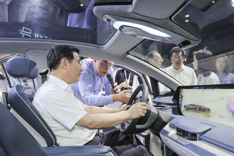 At the World Internet of Things Expo, this new car maker has received the most attention.
