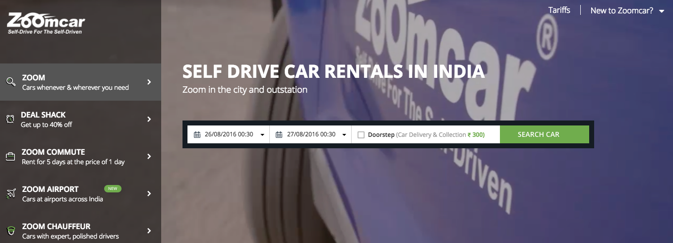 India auto rental company Zoomcar was $24 million B round of financing, Ford lead investment