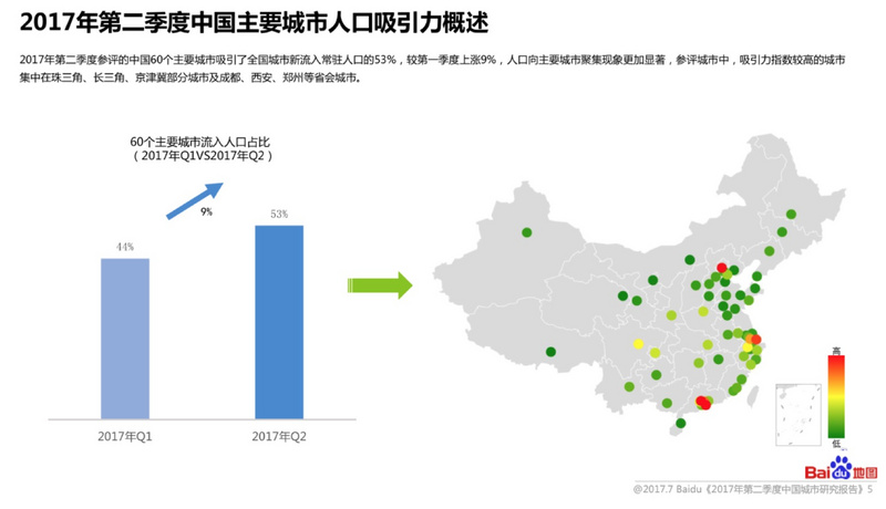 China's urban attraction geometry, business and shopping center? Baidu map is report