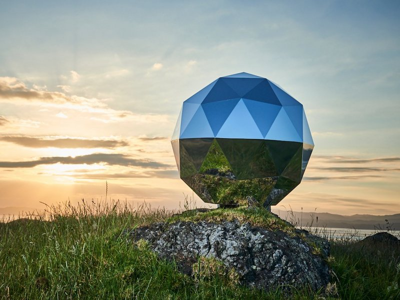 A private Rocket Company launched the flashing Disco ball into space and said that it could be seen all over the world.
